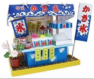 全新日本Billy Miniature DIY模型屋刨冰店