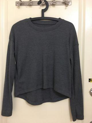 Grey knitted sweater