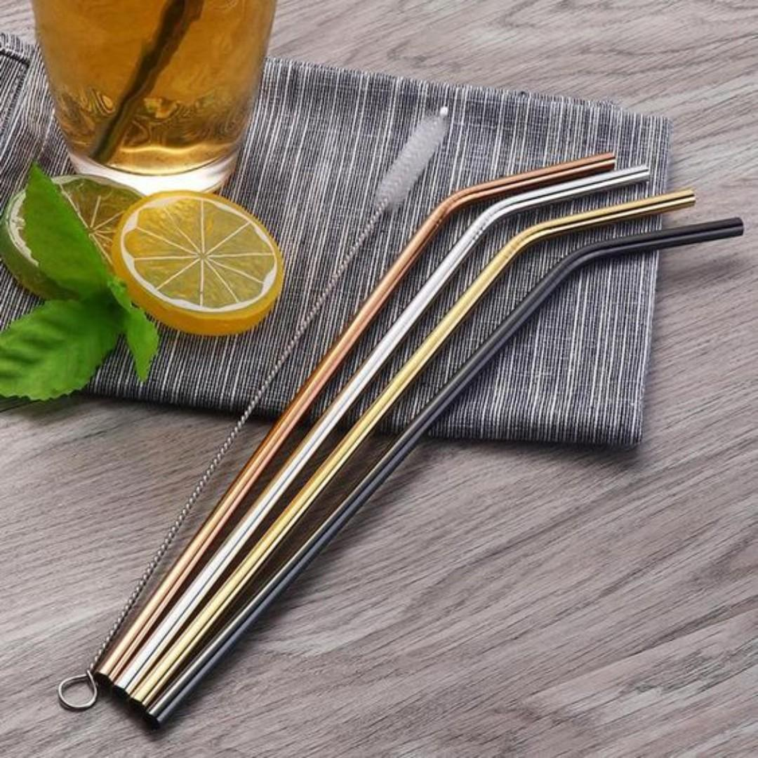✨ REUSABLE STAINLESS STEEL STRAW ✨