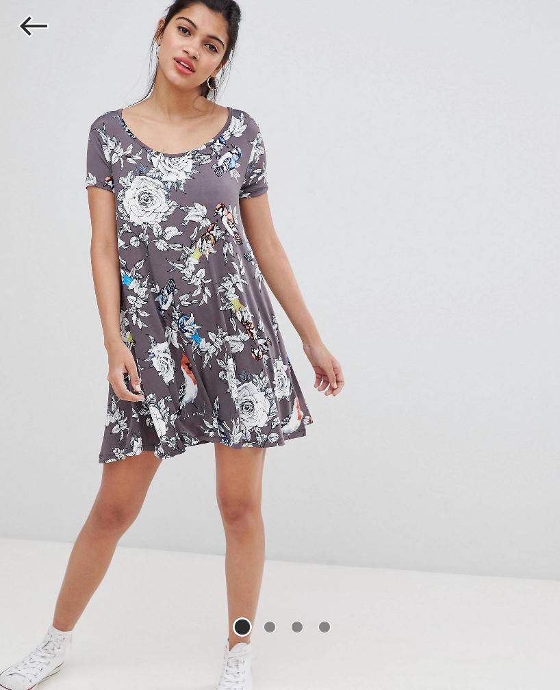 df207baa11 Asos floral swing dress with back keyhole, Women's Fashion, Clothes, Dresses  & Skirts on Carousell