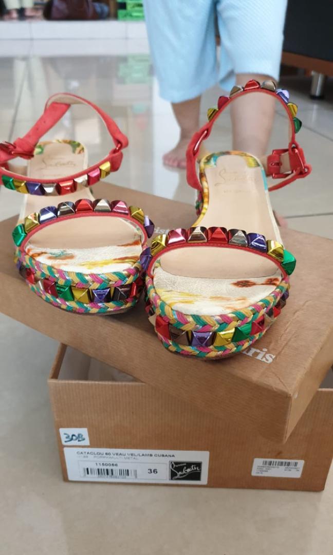 Authentic Louboutin,LV,Prada flat shoes