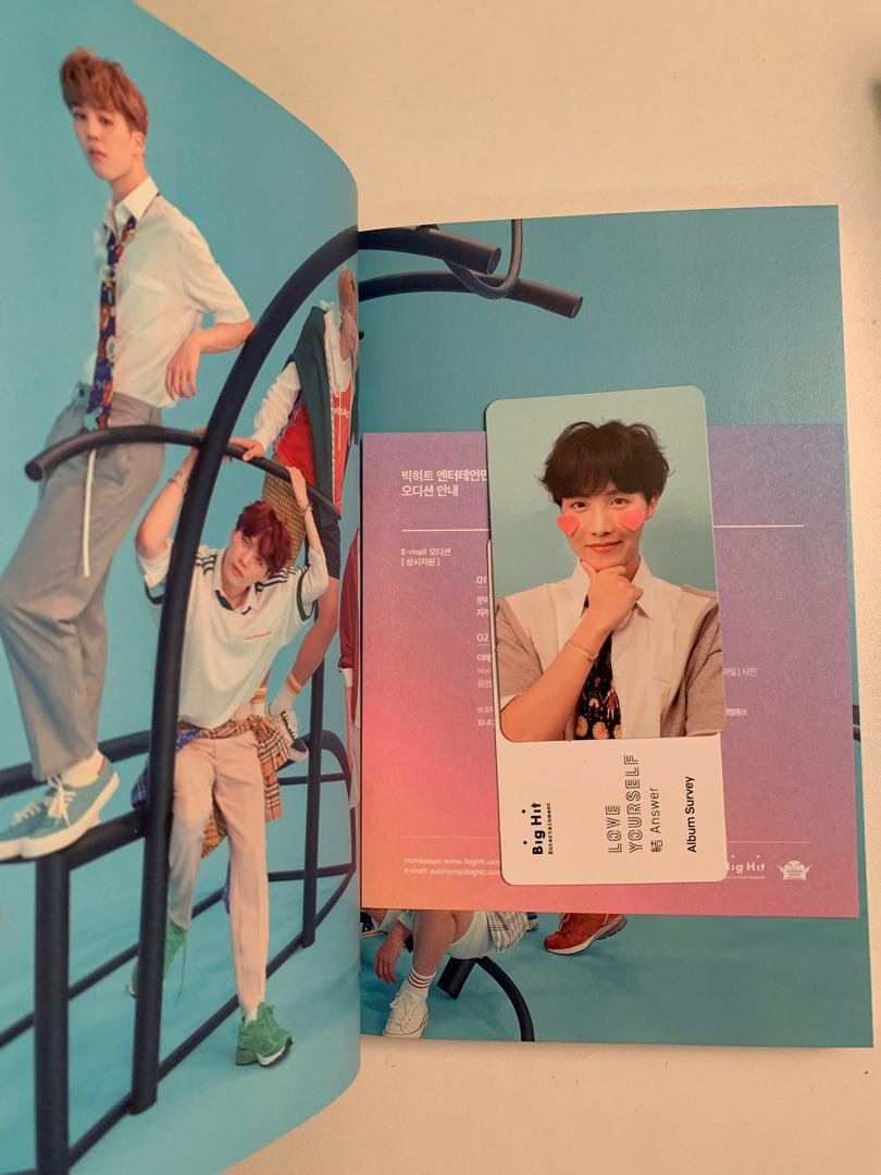 BTS Love Yourself : Answer F Version - J-Hope pc (with poster)
