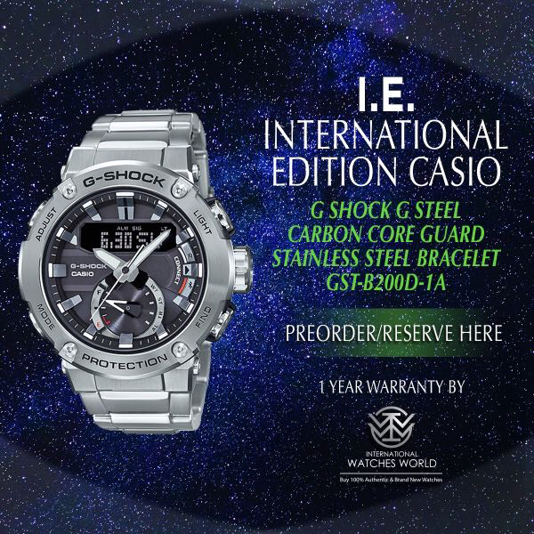Casio International Edition G Shock G Steel Carbon Core Guard