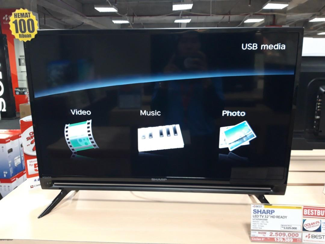Cicilan Bunga 0% LED TV Sharp 32 Inch HD