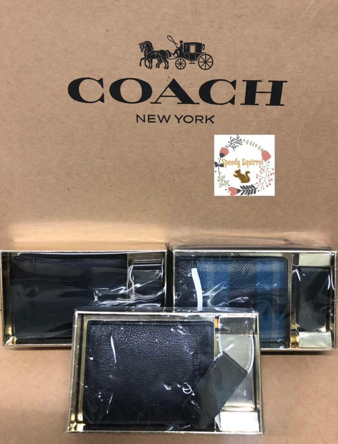 現貨!男裝Coach Card case set裝