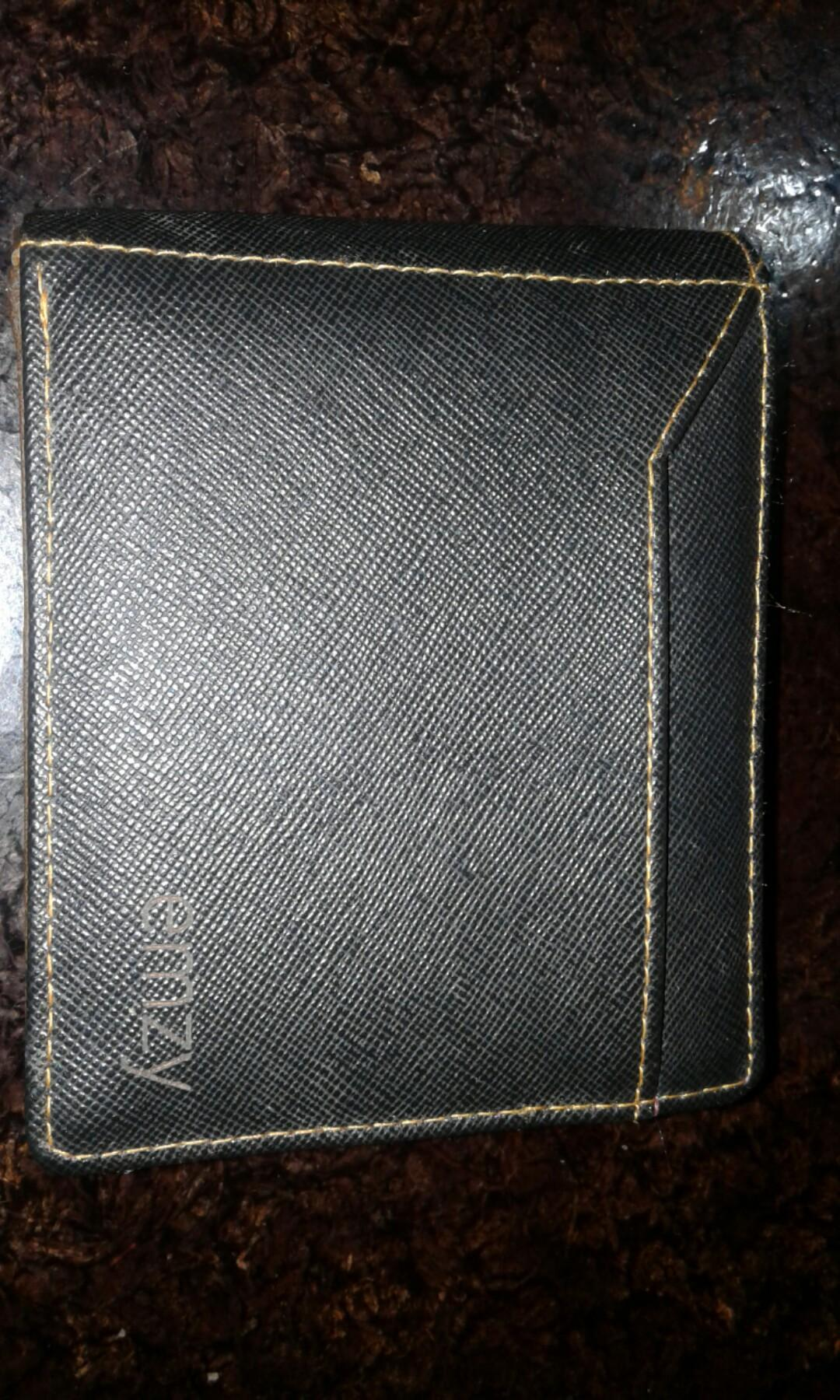 Dompet canvas banyak kantong coklat baru