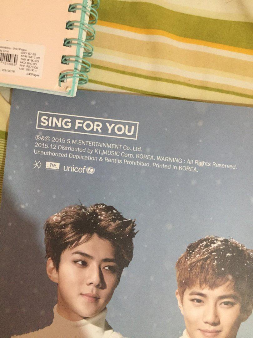 EXO Sing for You Poster