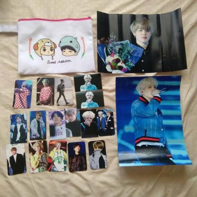 Fansite goods BTS exhibition photocard, poster, pouch yoonmin (jungkook, suga, jimin, jhope)