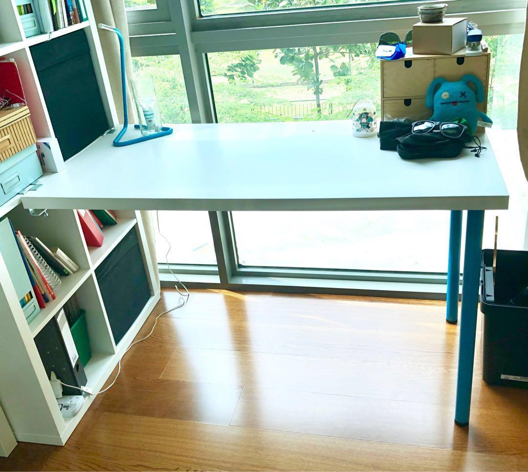 Ikea Linnmon Table Top 120x60 2 Legs Furniture Tables Chairs On Carousell