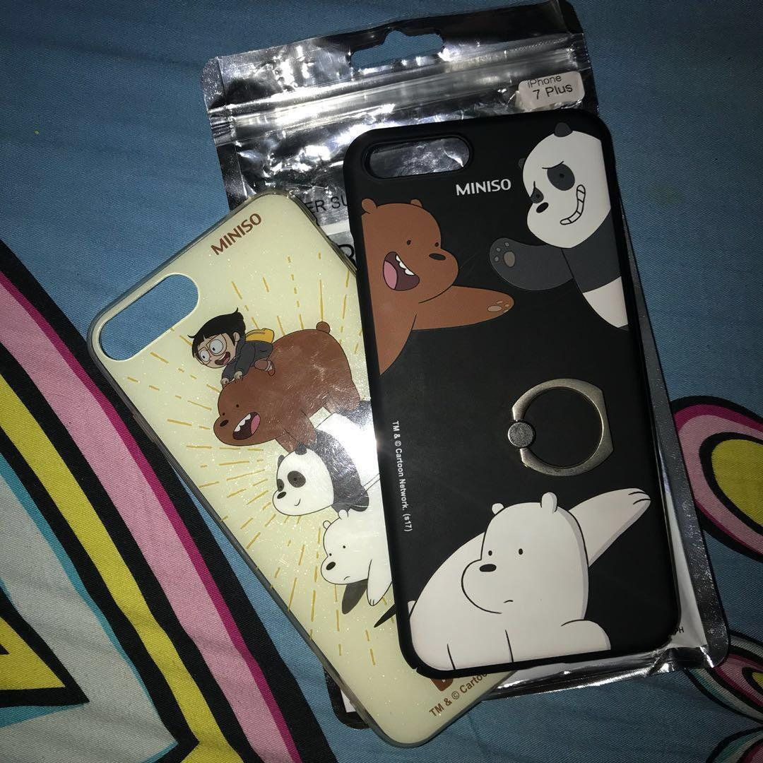 Iphone 7/8 We Bear Bears Case (Black, right in picture)