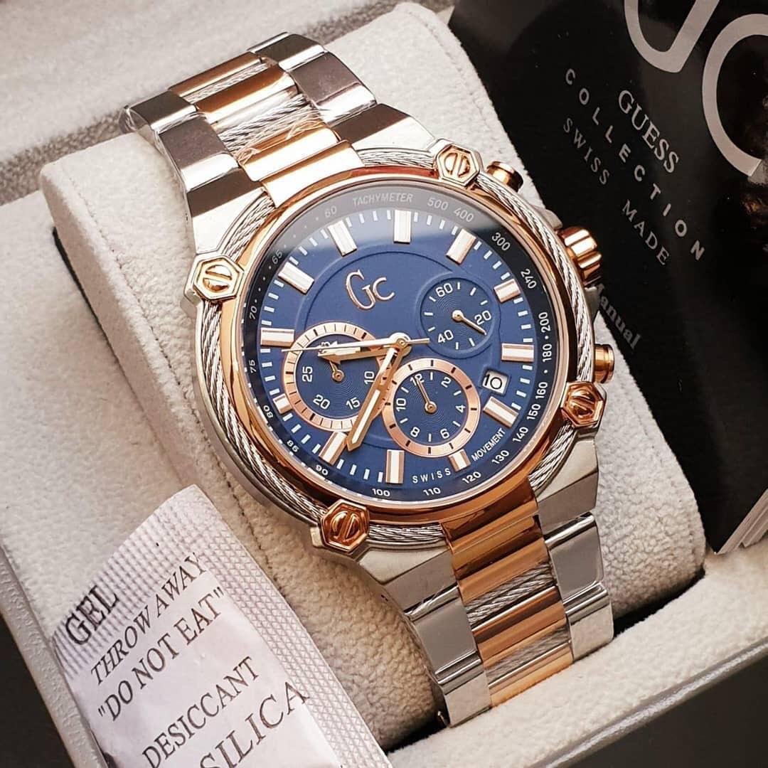 Jam tangan GC Original untuk pria - diameter 4,6 mm (NEW&full sett)