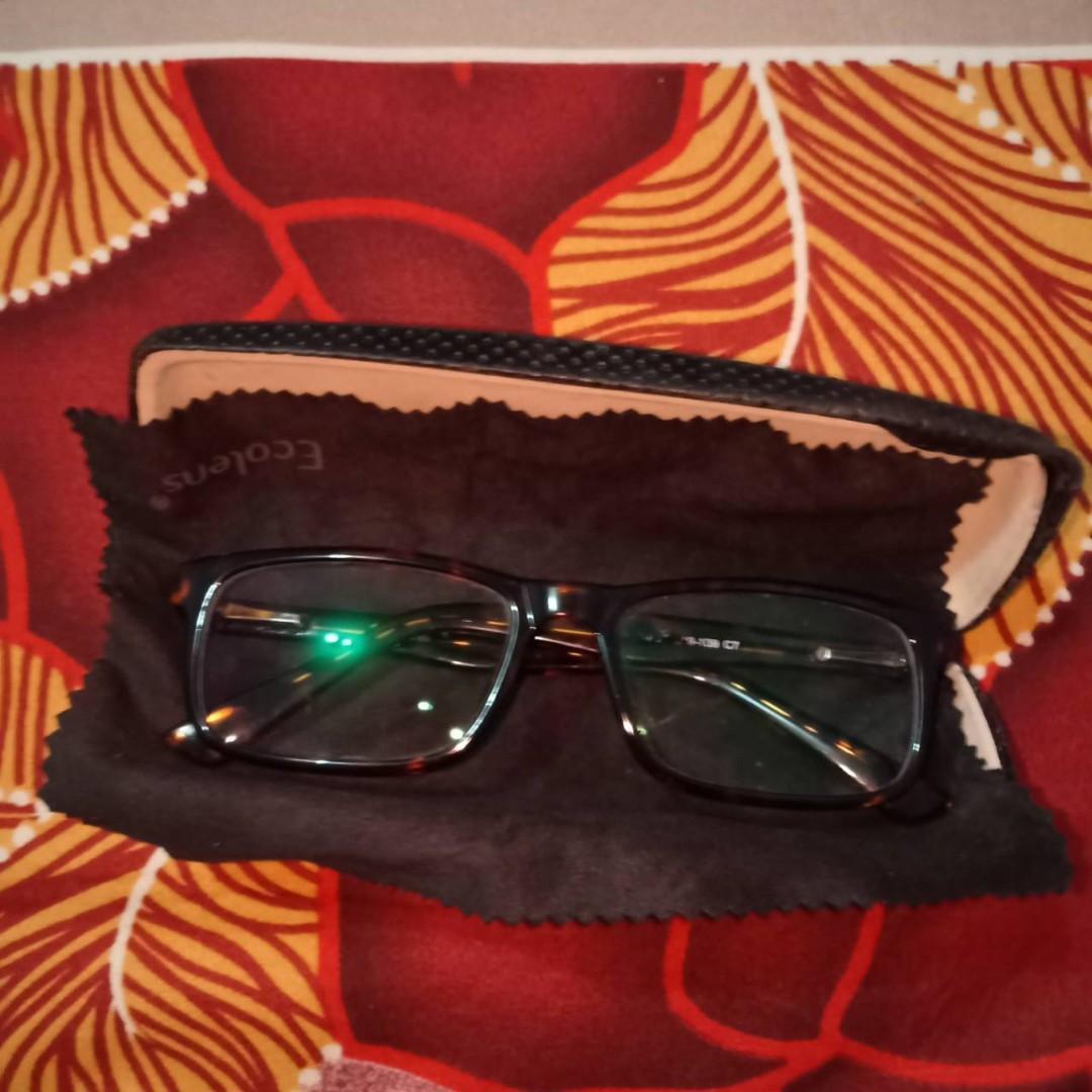 Kacamata Minus Loreng Coklat Hitam (Preloved) #mauthr