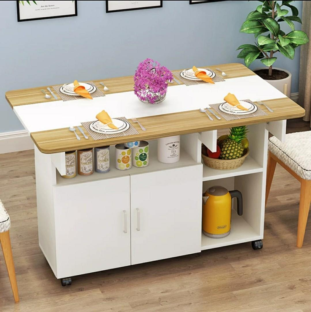 Kitchen Island Table Or Dinning Set With Storage Cabinet Furniture Home Living Furniture Tables Sets On Carousell