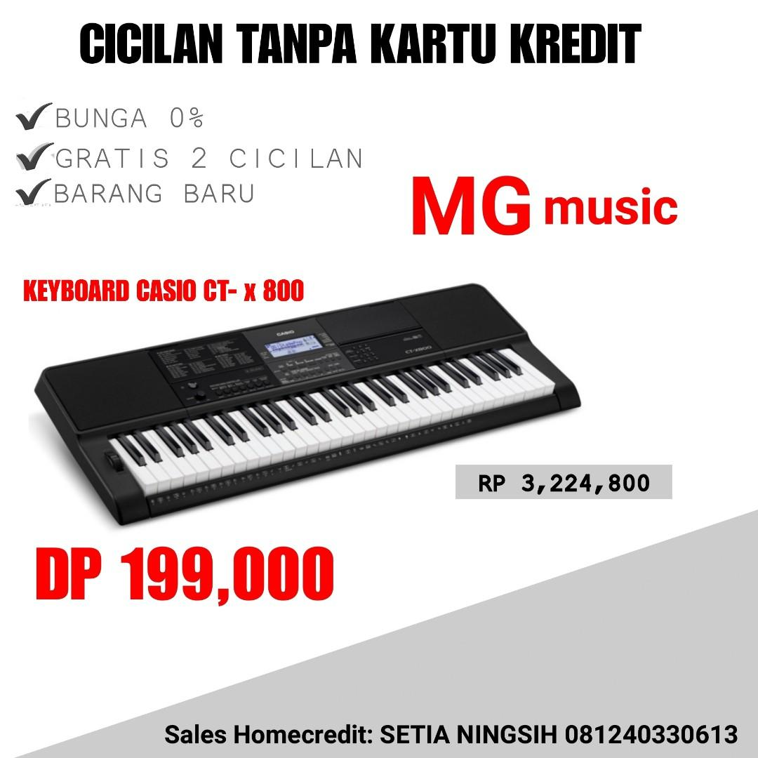 Kredit Keyboard Casio CT-X 800 Tanpa CC Bunga 0% DP.199 Rb