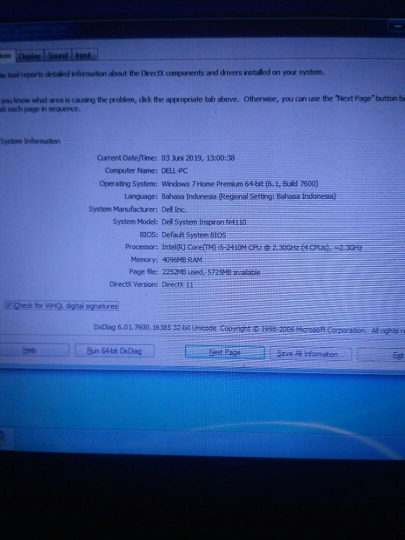 Laptop Dell Inspiron N4110 Double VGA