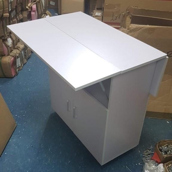Storage Off White Drop Leaf Table Not