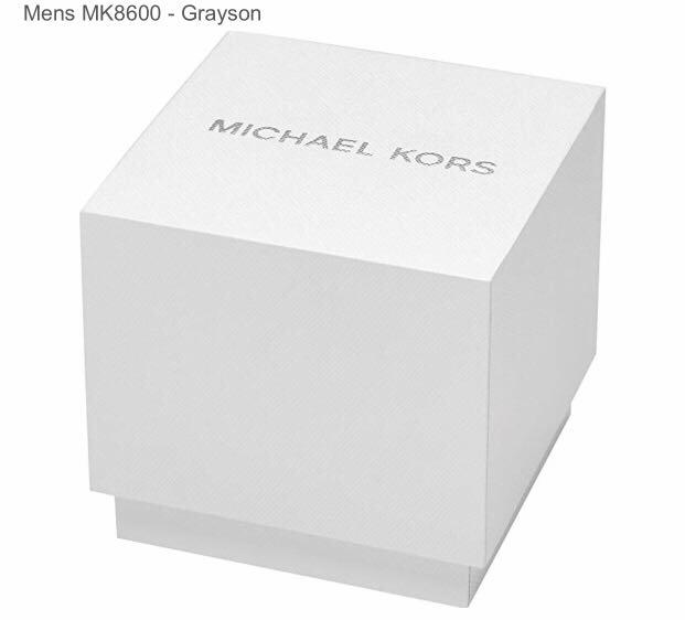 Make an impact to your outfit of the day with the striking Michael Kors® Grayson watch. Stainless steel case.