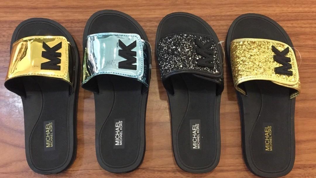 Mk slides slippers, Women's Fashion