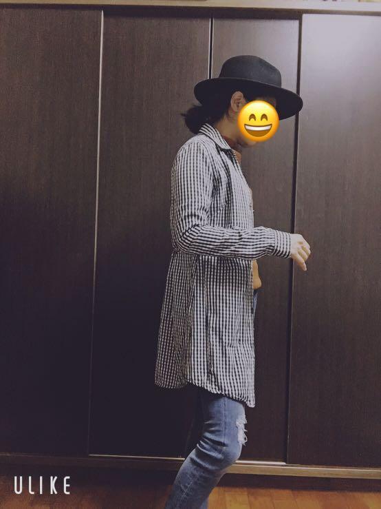 Moussy 黑白格子襯衫