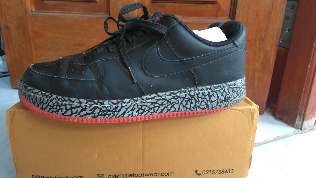 #mauthr Nike Air Force 1 Low Black/pink Elephant Print Mid High 488298 063