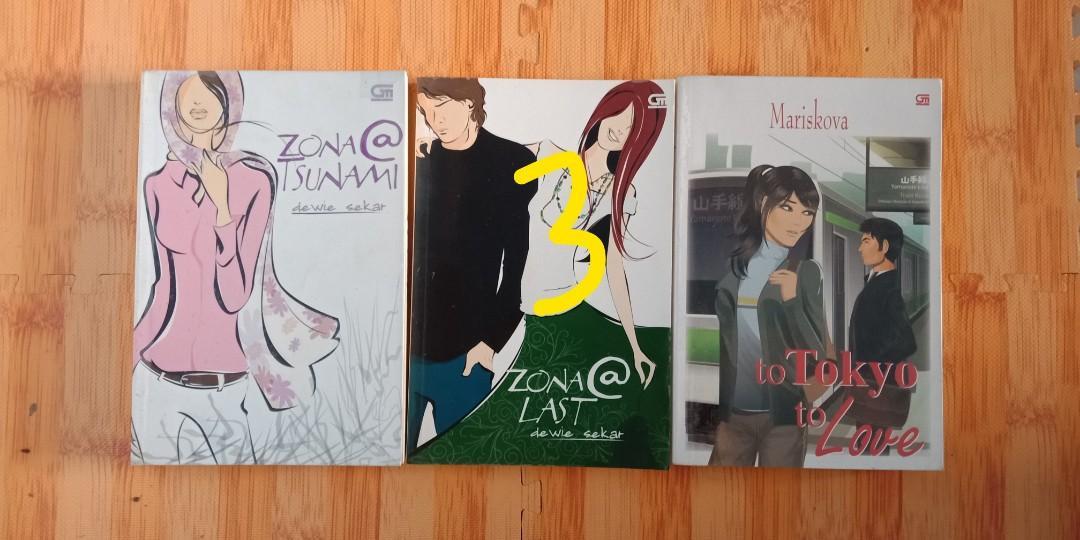Novel Teenlit, Metropop, Dan Brown etc