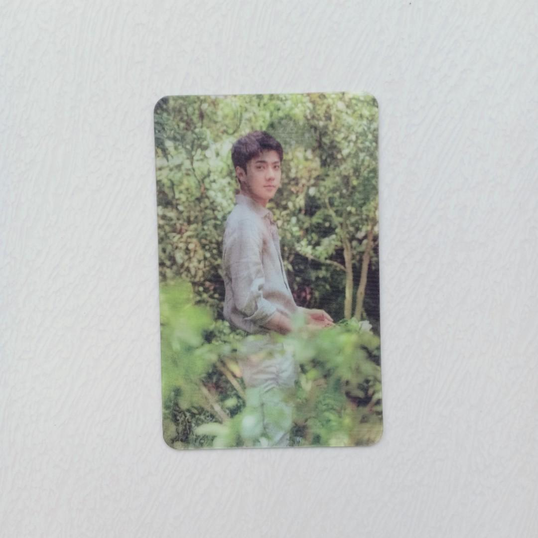 OFFICIAL LENTICULAR PHOTOCARD EXO SEHUN FROM NATURE REPUBLIC EDITION