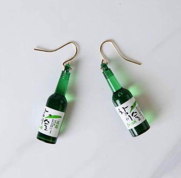 One of a Kind NEW Beer Bottle Earrings FREE SHIPPING