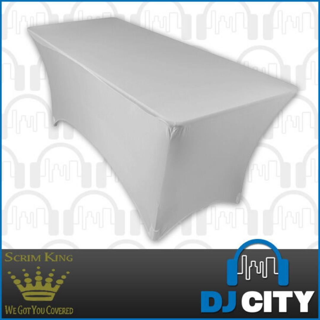 Scrim King DJ Table Cover to hide cables and display lights !