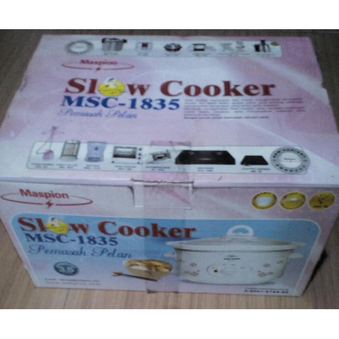 Slow Cooker Maspion 3.5 Liter low Watt 200 Watt