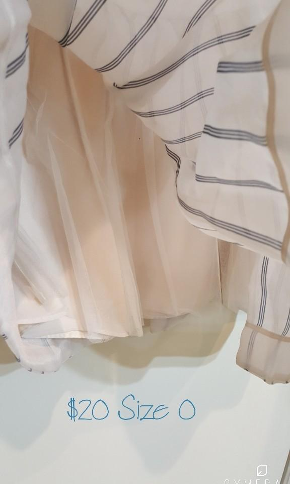 """""""Snidel"""" Japanese Brand High Waisted Short A-Line Beige Striped Skirt (Size US0)"""