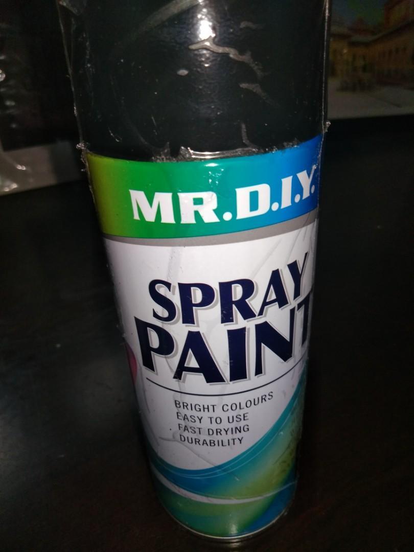 Spray paint - flat black, Everything Else on Carousell