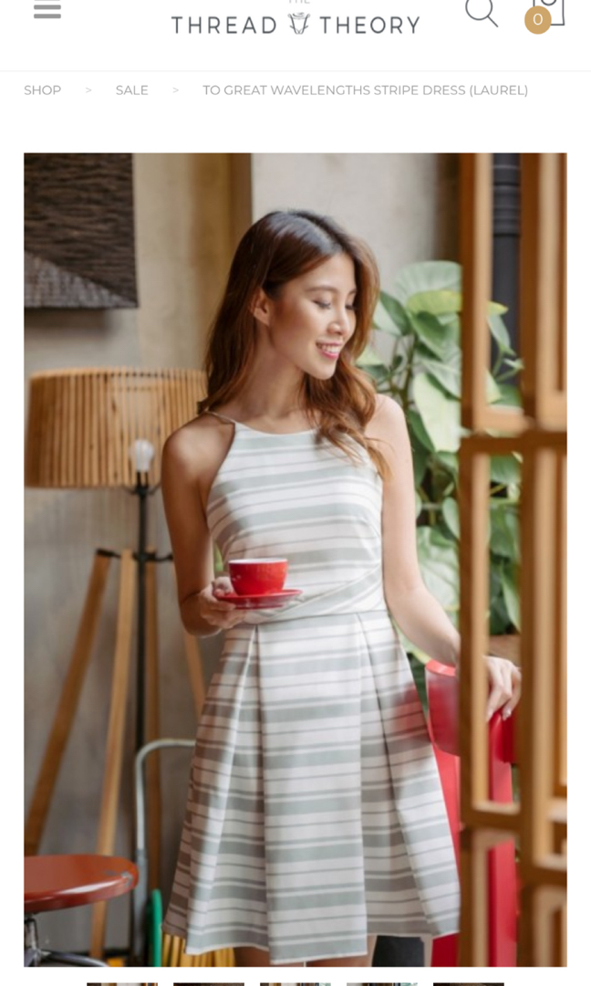 32f023e17c0 THREADTHEORY To Great Wavelengths Stripe Dress (Laurel), Women's Fashion,  Clothes, Dresses & Skirts on Carousell