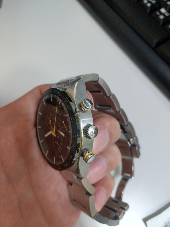 天梭TISSOT PRS 516三眼計時腕錶