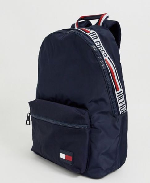 28412c23 Tommy Hilfiger backpack with icon taping and flag icon in navy ...