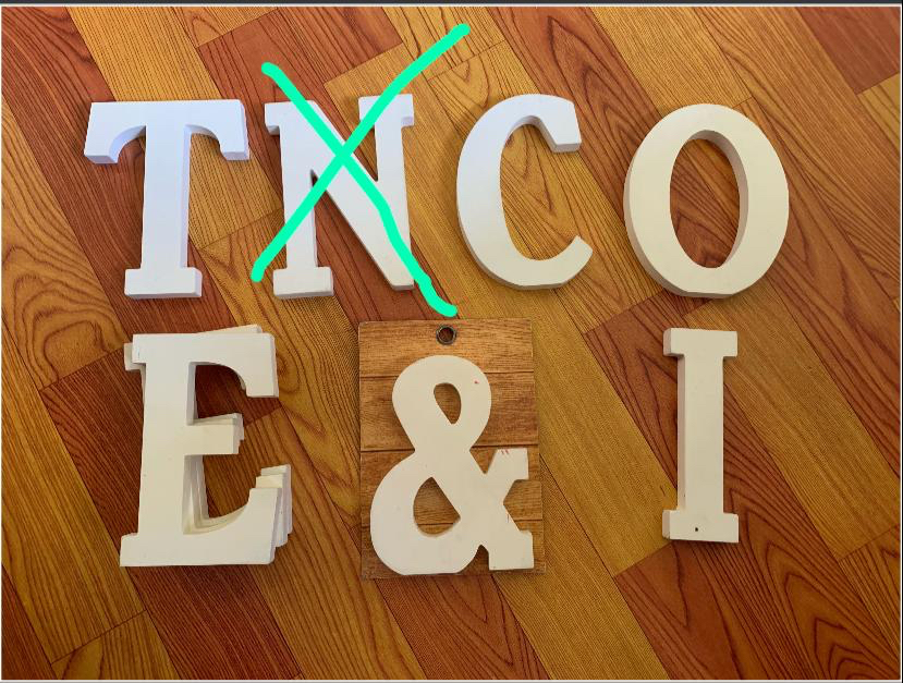 Typo Wooden Letters Alphabets