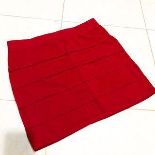 Red Skirt / Rok Merah - Bossini