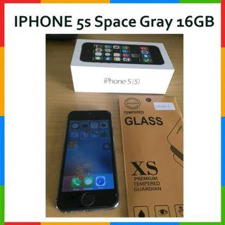 Iphone 5S Space Gray 16GB No FP BONUS Tempered Glass