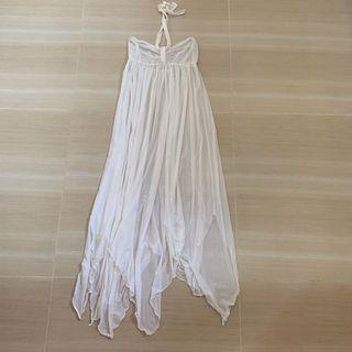 Sunseeker 白色長紗裙 /沙灘裙