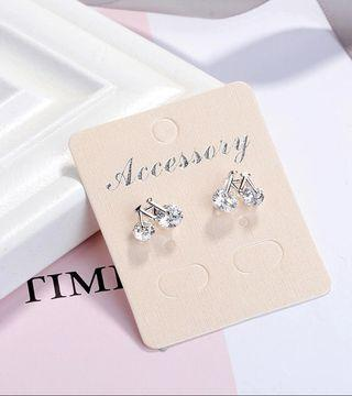 Cute Tiny Bicycle Earrings Lovely CZ Zircon Crystal Bike Design Stud Earrings for Women 925 Sterling Silver