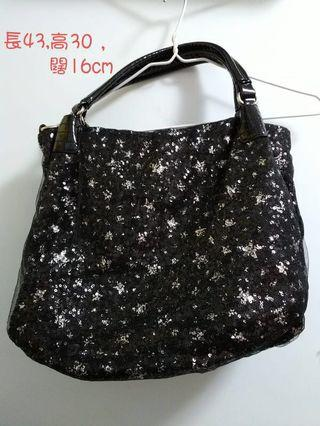 Black patterned bag