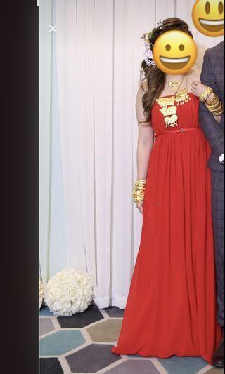 晚裝 敬酒裙 紅色晚裝 red evening dress