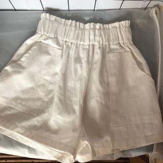 🚚 白色高腰褲