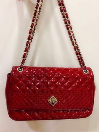 Fion enamel leather bag
