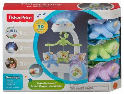 Fisher-Price Fisher Price Butterfly Dreams 3-In-1 Projection Mobile