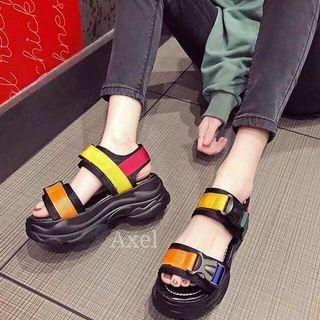 Sepatu sandal wedge import