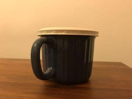 Corning Ware colours mug with lid, Microwave and Oven Safe 康寧微波爐焗爐有蓋杯