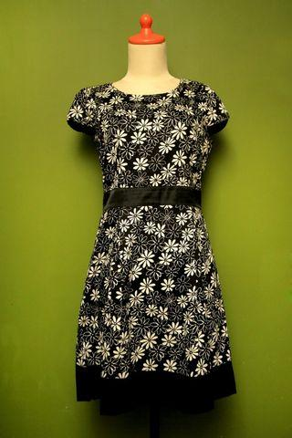 Eprise Dress Flower Black&White