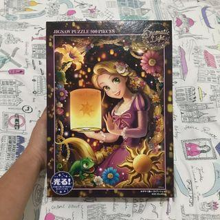 Tenyo puzzle rapunzel shining thoughts glow in the dark effect