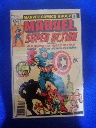 Marvel Super action premiere issue of Captain America