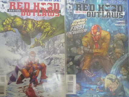 Red Hood and the Outlaws New 52 #5 #6 set